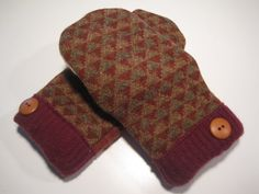 MMC0340 Mendon Wool Mittens womens sm/med by MichMittensbyLauri, $23.00