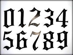 CCN0055 Old English Numbers Stencils | wedding my ...Old English Numbers