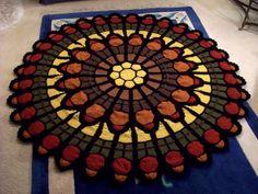 Cathedral rose window afghan pattern by julene watson afghan cathedral rose window afghan knitting fiberarts dt1010fo