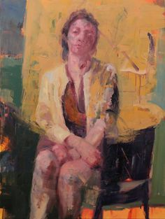 Henry Jabbour - Seated Woman - Oil on Canvas, 120x90 cm