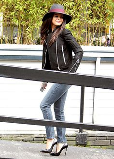 Selena Gomez spotted outside ITV Studios in London on Sept. 23, wearing a jeans ensemble--her fourth outfit of the day!