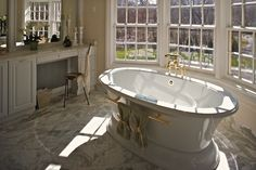 We #staged this beautiful #Master #Bath in a vacant multi million dollar home on Long Island - that sold in three and a half weeks. A #Laffey real estate listing. #homestaging