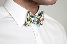 Learn how to make a bow tie (Liberty London Blog)