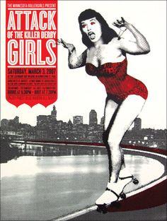 2008 MN Rollergirls poster designed by Sara Lintner