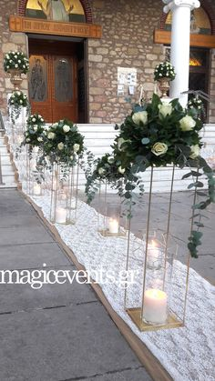 White Wedding Decorations, Wedding Centerpieces, Wedding Bouquets, Wedding Flowers, Wedding Walkway, Wedding Table, Wedding Ceremony, Wedding Flower Design, Party