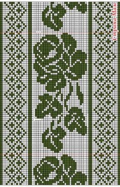 @nika Crochet Patterns Filet, Crochet Table Runner Pattern, Crochet Borders, Crochet Tablecloth, Crochet Stitches, Crochet Curtains, Tapestry Crochet, Cross Stitch Designs, Cross Stitch Patterns