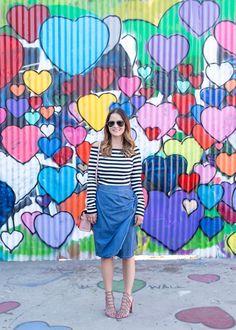 683 South Santa Fe Avenue, Los Angeles, CA  Los Angeles Colorful Hearts Mural