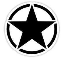 Military Invasion Star Sticker