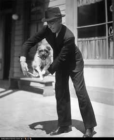 Humphrey Bogart and terrier friend