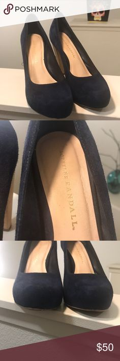 Loeffler Randall blue suede pumps. Size 8 Loeffler Randall blue suede pumps. Size 8. 4 inch heel. Minimal wear except for minor scuffs on back of heel as shown on pictures. Beautiful shoes. Loeffler Randall Shoes Heels