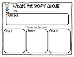 Idea Graphic Organizer for Students Main Idea Graphic Organizer for Students - on TPT! I will be using this tomorrow with my graders. :)Main Idea Graphic Organizer for Students - on TPT! I will be using this tomorrow with Kindergarten Writing, Teaching Writing, Student Teaching, Teaching Resources, Literacy, Reading Lessons, Reading Strategies, Reading Skills, Guided Reading