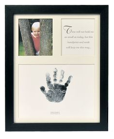 The Grandparent Gift Baby Keepsakes Little Hands Handprint Frame, Black