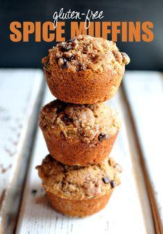 GF Spice Muffins w/a Dark Chocolate Streusel