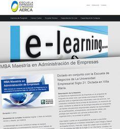 Escuela Empresaria de Negocios AERCA: lanzamiento web