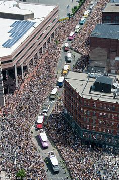 Boston Bruins Parade - Stanley Cup Champions 2011 we were there!!