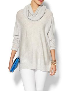 Vince Seamed Turtleneck Sweater ... Get ready for early snows and colder than usual fall in 2014.