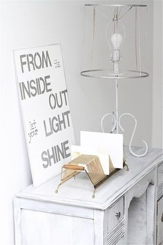 lamp and sign