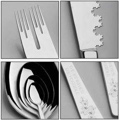 Cubiertos fractales para comidas megafrikis
