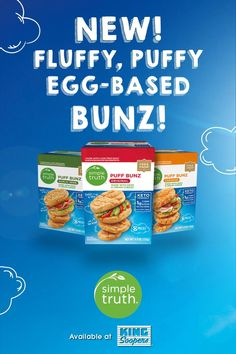 Puff Bunz are deliciously light and ideal for keto-friendly, low carb/sugar, gluten free lifestyles. They're ready to enjoy in minutes, and perfect for sandwiches, burgers, dinner rolls and so much more! Low Carb Bread, Low Carb Keto, Low Carb Recipes, Real Food Recipes, Vegan Recipes, Snack Recipes, Cooking Recipes, Fast Recipes, Diabetic Recipes