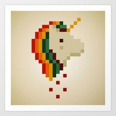 Unicorn pixel patterns