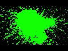 #PaintSplash Effect On Green Screen I Slow Motion Paint Splatter I Background in HD