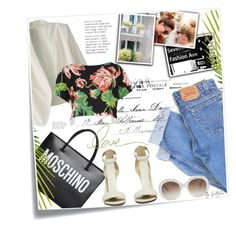"""""""Look How Far You've Come"""" by q-styles ❤ liked on Polyvore featuring Post-It, Levi's, Thomsen Paris, STELLA McCARTNEY, Moschino and Gucci"""