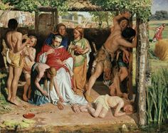 A converted British Family sheltering a Christian Missionary from the Persecution of the Druids by William Holman Hunt - 1850