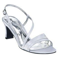 "2.5"" silver heels $16.99"