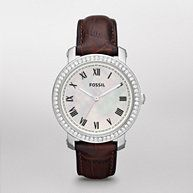 FOSSIL® Features Exotic Watches:Women Stella Leather Watch – Black ES3102