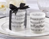 It's all about the music and dancing at your wedding! Musical Notes Frosted-Glass Tea Light Holder (Set of 4), always volume discounts. http://www.firstavenueweddingfavors.com/tea-light-candle-favor/