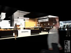 Concept design of a bakery for the brand ORO BIANCO, located in Italy.