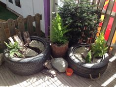 Natural Small World Tyres - for dinosaurs, insects, animals, trucks and diggers...
