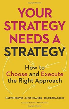 Your Strategy Needs a Strategy: How to Choose and Execute the Right Approach by Martin Reeves http://www.amazon.com/dp/1625275862/ref=cm_sw_r_pi_dp_6dHSwb1DH1YZT