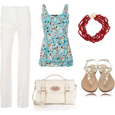 Love this - but probably white shorts or capris - I wonder if I could keep white clean?