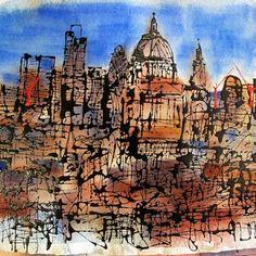 Urban Landscape, Landscape Art, Paul Kenton, A Level Art Sketchbook, Art Alevel, Building Art, New York Art, Urban Sketchers, Built Environment