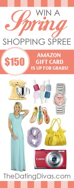 A Spring Shopping Spree GIVEAWAY! Just in time too! #springfashion www.TheDatingDivas.com You could purchase anything you wanted.