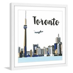 Marmont Hill Toronto Lakeview Framed Painting Print - MH-MOLROS-38-WFP-18