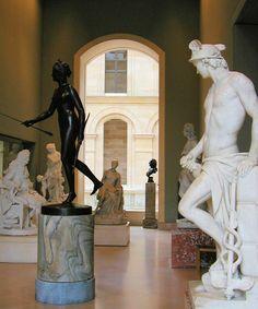 Sculpture at the Musee du Louvre, Paris France, c2003.