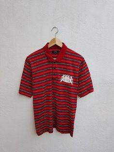 57107df6e Vintage 90s APC Rue De Fleurus Paris Stripes With Printed Logo Minimalist  Polos Shirt Size M