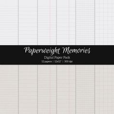 Notebook Paper for scrapbooking or other creative projects - http://crtv.mk/qxJF