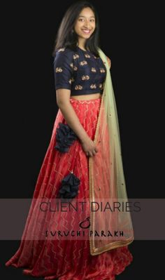 Indian Dresses, Indian Outfits, New Frock, Heavy Dresses, Lehenga Blouse, Half Saree, India Fashion, Indian Designer Wear, Indian Wear