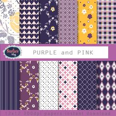 $4.80 Digital paper PURPLE AND PINK with hearts dots by SurfaceHug, $4.80 #Digital paper #instant download #wedding invites These papers will be useful in creative projects such as Cards, Invites, Wedding Invites, backgrounds, Childrens parties, scrap booking, any creative project. Instant download to your Etsy email address.