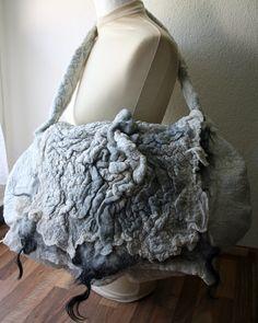 Brita Stein  felted bag  different wool and silk