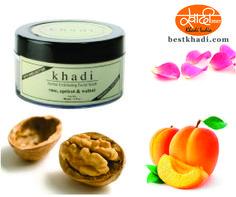 Khadi Rose Apricot walnut scrub cream with Rose