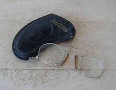 FRENCH PINCE NEZ Glasses Lorgnette Silver Spectacles Darris a2a1f3321180