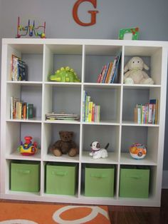 Expedit storage for nursury room organization