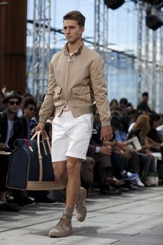 blacksocks.com white shorts, brown socks « The Sartorialist