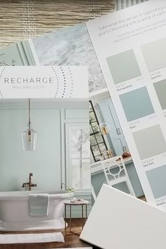 Check out SW new Living Well paint colors. Some of my favorites including Sea Salt and Comfort Grey combined with window treatments from Budget Blinds. #livingwell #wovenshades #windowtreatments #recharge #pinstripe Budget Blinds, Comfort Gray, Woven Shades, Painting Tips, Sea Salt, Window Treatments, Paint Colors, Wellness, Windows