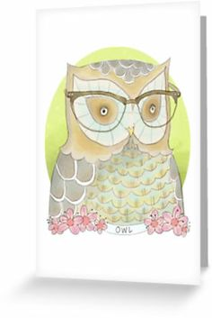 Owl by nearsightedowl