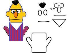Felt Puppets, Paper Puppets, Felt Finger Puppets, Hand Puppets, Cookie Monster Puppet, Sesame Street Puppets, Finger Puppet Patterns, Quiet Book Templates, Quiet Books